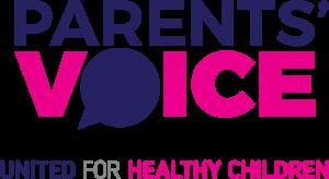 Parents' Voice Logo with Tagline