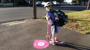 Scooting to school on our active paths